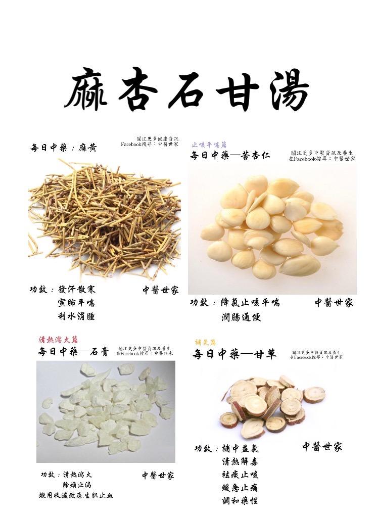 麻杏石甘湯